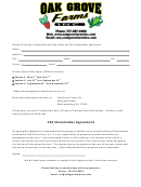 Csa Shareholder Agreement - Oak Grove Farms
