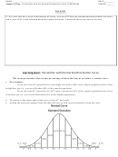 Percentiles With The Normal Distribution Curve Worksheet