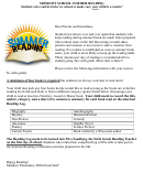 Fifth To Sixth Grade Summer Reading Log Template