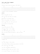 You And Your Heart By Jack Johnson Chord Chart