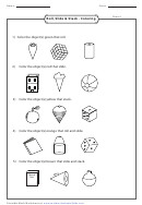 Roll, Slide & Stack - Coloring Sheet