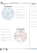Math Practice Sheets Reading A Pie Graph