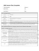 Ubd Lesson Plan Template