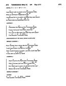 Tennessee Waltz (key Of C)
