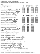 Please Come Home For Christmas - The Eagles Chord Chart