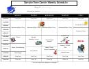 Sample Teen Center Weekly Schedule
