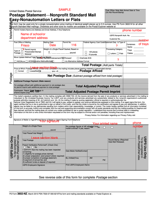 Top Non Profit Bulk Mail Form Templates free to download in PDF ...