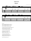 Sheet Music - Mandolin - Cripple Creek