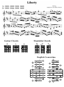 Liberty (the Fiddlers Fakebook) Chord Chart