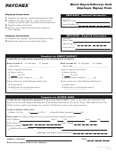 Direct Deposit/access Card Employee Signup Form