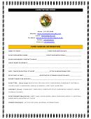 Event Intake Form Event General Information