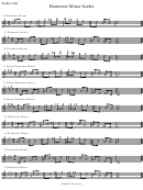 Harmonic Minor Scales (treble Clef)