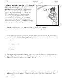 Character Analysis Worksheet