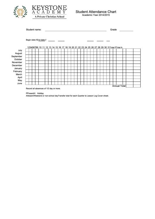 Student Attendance Chart