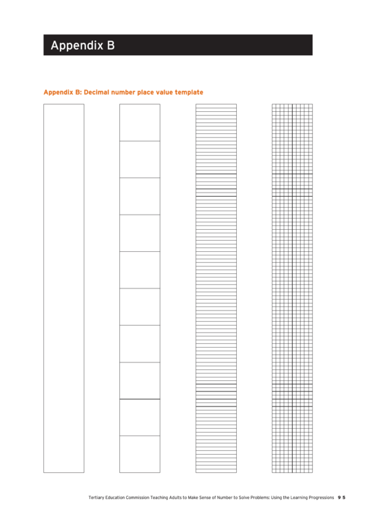 Decimal Number Place Value Template Printable pdf