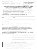 Form K-wc 113 - Cancellation Of Form - 2014