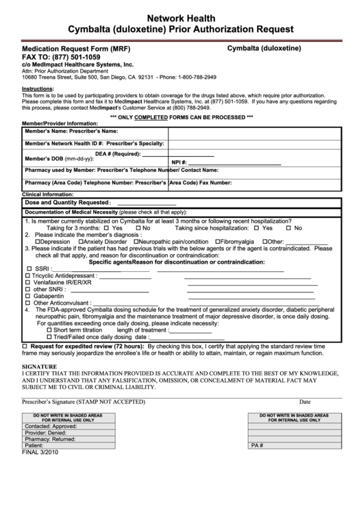 Top Network Health Prior Authorization Form Templates free to ...