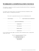 Workers Compensation Notice