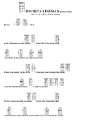Wichita Lineman-jimmy Webb Chord Chart