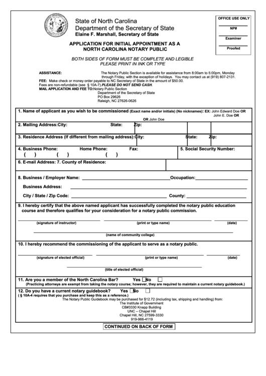 NC DOA State of North Carolina Internship Program