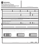 Form Mv-904sp - Application For Special Organization Registration Plate