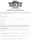 Tribune Job Application Form Mobridge Tribune