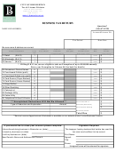 Business Tax Return Form