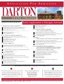 Application For Admission - Darton State College