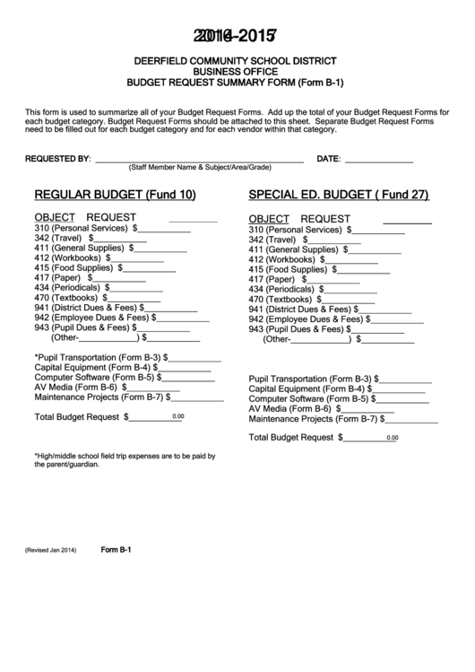 Requisition Form - Deerfield Community School District