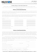 Change Of Name Or Ownership Change Form