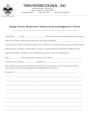 Eagle Scout Reference Check Acknowledgement Form