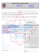 Eagle Scout Reference Letter Template