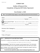 Outline Of Research Plan Completion Of Required Isef Online Paperwork