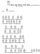 Tell Me What You See - Lennon And Mccartney Chord Chart