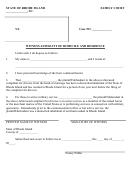 Witness Affidavit Of Domicile And Residence