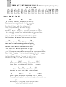 The Storybook Ball - Billie Montgomery/george Perry Chord Chart