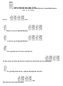 Spanish Harlem (bar) - Jerry Leiber/phil Spector Chord Chart