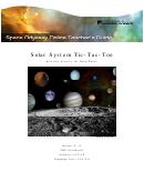 Solar System Tic-tac-toe Postvisit Activity For Deep Space Sheet - Grades 9-12