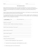 Obituary/eulogy Worksheet Template