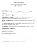 High School Senior Social Resume Template
