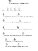 Palisades Park - Chuck Barris Chord Chart