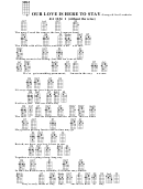 Our Love Is Here To Stay-c-george & Ira Gershwin Chord Chart