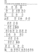 Our Love Is Here To Stay(bar)-george & Ira Gershwin Chord Chart