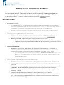 Meeting Agenda Template And Worksheet