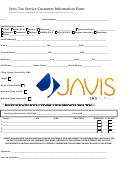 Javis Tax Service Customer Information Form