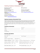 Catering Customer Information Form
