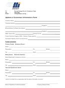 Update Of Customer Information Form
