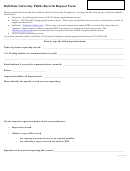 Ball State University Public Records Request Form