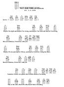 Nevertheless (bar) Chord Chart