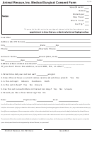 Animal Rescue Inc Medical Surgical Consent Form